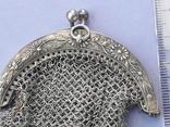 Кошелёк-кольчужка к шатлену, серебро, 36 гр., какая-то Европа, модерн, фото №3