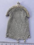 Кошелёк-кольчужка к шатлену, серебро, 36 гр., какая-то Европа, модерн, фото №6