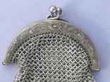 Кошелёк-кольчужка к шатлену, серебро, 36 гр., какая-то Европа, модерн, фото №7