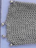 Кошелёк-кольчужка к шатлену, серебро, 36 гр., какая-то Европа, модерн, фото №8