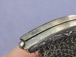 Кошелёк-кольчужка к шатлену, серебро, 36 гр., какая-то Европа, модерн, фото №9