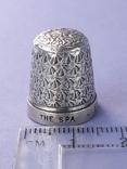 Напёрсток, наперсток, серебро, 3.1 грамма, Великобритания, 1928 год, фото №2