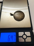 Кулон с Парусником серебро HP 835 штихель, фото №9