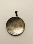 Кулон серебро 835 HP штихель старенький, фото №7