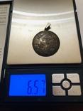 Кулон серебро 835 HP штихель старенький, фото №11