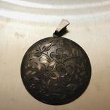 Кулон серебро 835 HP штихель старенький, фото №13