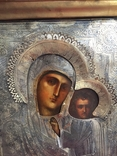 Икона Казанской Богородицы. Серебро, фото №7