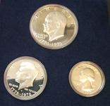 США 1976 набор ПРУФ серебро 200 лет Независимости, фото №3