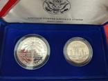 США 1 и1/2 1986 набор ПРУФ серебро Статуя Свободы BOX сертификат, фото №5