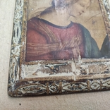 Икона. Богородица. 12,5х18. Левкас, позолота., фото №7