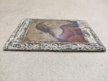Икона. Богородица. 12,5х18. Левкас, позолота., фото №10