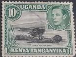 Kenya, Uganda Tanganyika sg135/a 1949 10c ''Mountain retouch'' in MNH  , фото №2