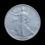 1 Доллар 1990 Шагающая Свобода (Серебро 0.999, 31.1г) 1oz, США Унция, фото №2