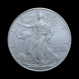 1 Доллар 2000 Шагающая Свобода (Серебро 0.999, 31.1г) 1oz, США Унция, фото №2
