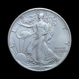1 Доллар 1988 Шагающая Свобода (Серебро 0.999, 31.1г) 1oz, США Унция, фото №2