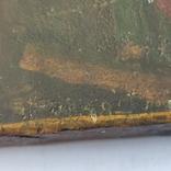 Распятие с Богородицей и Иоанном Богословом. 1858г. Подписная. Подпись художника., фото №8