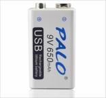 Аккумуляторная батарея 9 вольт типа Крона li-ion 650 мАч с USB портом для зарядки, фото №3