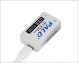 Аккумуляторная батарея 9 вольт типа Крона li-ion 650 мАч с USB портом для зарядки, фото №4