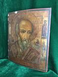 Икона Святой Николай ХIХ век., фото №3