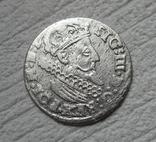 Трояк 1624 г. Сиг. ІІІ Ваза (всадник без меча), фото №2