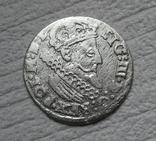 Трояк 1624 г. Сиг. ІІІ Ваза (всадник без меча), фото №6