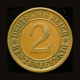 Германия 2 пфенига 1924, фото №2