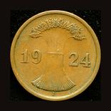 Германия 2 пфенига 1924, фото №3