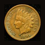 США цент 1890, фото №2