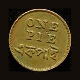 Британская Бенгалия 1 пай 1831, фото №2