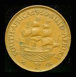Южная Африка пенни 1950, фото №3