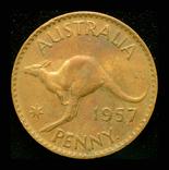 Австралия пенни 1957, фото №3