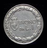 Италия 1 лира 1928 редкий год, фото №3