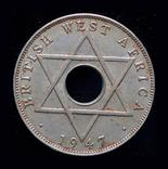 Британская Западная Африка 1/2 пннни 1947, фото №3