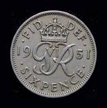 Великобритания 6 пенсов 1951, фото №3