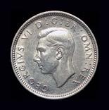 Великобритания 6 пенсов 1944 серебро, фото №4