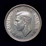 Великобритания 6 пенсов 1944 серебро, фото №2