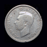 Великобритания 6 пенсов 1939 серебро, фото №2