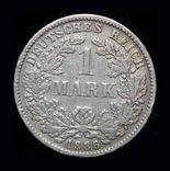 Германия 1 марка 1886 F серебро, фото №2