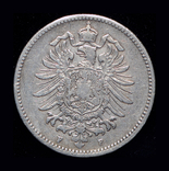 Германия 1 марка 1886 F серебро, фото №3