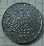 2 марки, Саксония, 1903 год., фото №7