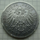 5 марок, Баден, 1893 год., фото №8