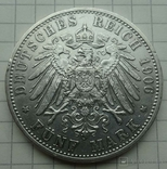 5 марок, Бавария, 1906 год,, фото №7