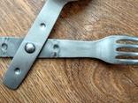 Вилка-ложка из нержавейки Вермахт, фото №8