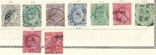 059 Британская Индия 1902-1912, 9 марок без повторов на наклейках, фото №2