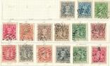 062 Индийские княжества. Кочин 1911-1918, 15 марок без повторов на наклейках, фото №2