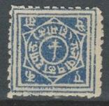 Бв06 Индийские княжества. Раджпипла 1880 №1*, фото №2