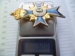 Немецкая нагрудная звезда орден, значок с крестом копия, фото №7
