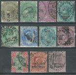 Бж10 Брит. колонии. Британская Индия, Гвалиор, Паттияла 1882-1903 (11 марок без повторов), фото №2