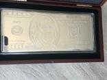 Серебряная Банкнота 100 долларов США 2009 год.4 унции серебра 999.9 пробы., фото №2