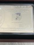Серебряная Банкнота 100 долларов США 2009 год.4 унции серебра 999.9 пробы., фото №12